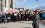 """Wyborcza Rzeszów: """"Nie chcesz siedzieć za poglądy? To, Polaku, obroń sądy!"""". Protest KOD w Rzeszowie [zdjęcia]"""