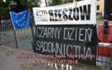Protest w obronie Sądu Najwyższego Rzeszów 27.07.2018