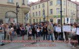 Protest solidarnościowy Jesteśmy z nauczycielami Rzeszów 2019.04.26.