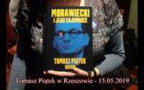 Tomasz Piątek w Rzeszowie 15. 05. 2019.